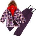 Winter Boys Ski Set Windproof Outdoor Boys Ski Jacket+Bib Pants 2 pcs Set Children Clothing 7-16Years
