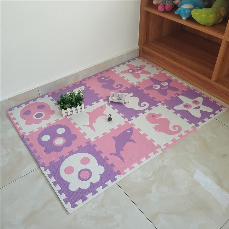 JCC 8/24pcs Sea Style Baby EVA Foam Puzzle Play Mat /kids Rugs Carpet  Interlocking Exercise Floor For Children Tiles 30*30*1cm