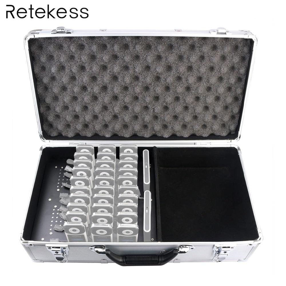 TT001 Portable 32 Slot Charge Case Storage Box for Wireless Tour Guide System Retekess T130 T131