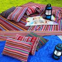 وسادة هوائية قابلة للنفخ آلية محمولة هندية اللون وسادة للأنشطة الخارجية وسادة نوم مريحة ولينة للرقبة