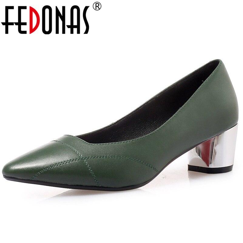 Bureau En Ressort D'été Talons 2 1 Fedonas Femme Mariage Chaussures Glissement Pompes Noir Pointu Souple Parti Sur De Hauts Sexy Bout Cuir Femmes PS6HqF4