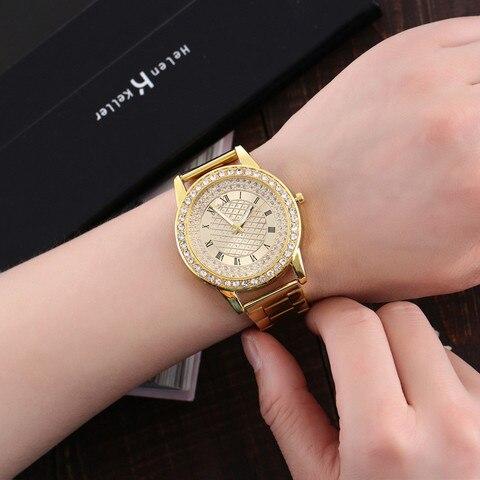 YBotti Luxury Brand Women Watcth Gold Steel Bracelet Watch Quartz Wristwatch Crystal Women Dress Jewelry Watch relogio feminino Islamabad