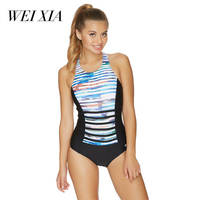 WEIXIA 2018 Show Women Swimwear 17047 One Piece Swimsuit Brazilian Beach Wear Totem Print One Piece