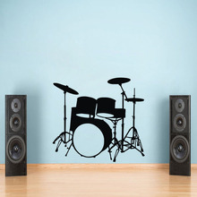 Musical Instruments Drums Wall Stickers Home Decor Boys Bedroom Decals Vinyl Removable Adhesive Wallpaper