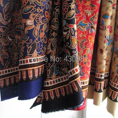Islamic Pattern Fabric Sewing Dress Crafts Table Cloth Ethnic Print Cotton Linen Material Home