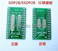 20PCS/LOT SO/SSOP/SOIC/MSOP TSSOP28 / TSSOP20 turn DIP28 1.27MM / 0.65MM turn 2.54MM IC adapter Socket / Adapter plate / PCB