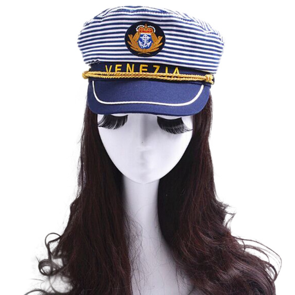 Aliexpress.com  Comprar Marina Militar sombrero marinero capitán Cap  hombres mujeres sombrero militar de sombreros militares fiable proveedores  en fairycos dd64b549cc0