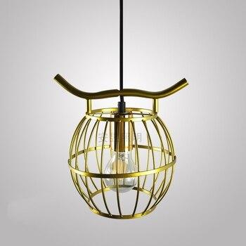 Loft industriel E27 lampes suspendues en fer forgé cage à oiseaux lampe couloir classique style rétro villa balcon allée pendentif lumières
