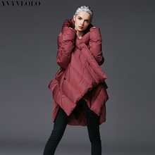 YVYVLOLO 2019 Irregular Winter Long Thickening Coat Parka Women Down Cotton Jacket
