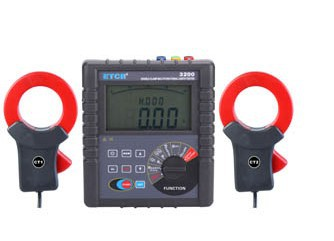 Luckya Double Clamp Grounding Resistance Tester of Earth Resistance Measurement Soil resistivity Meter Leakage Current Tester ETCR3200 Precision Measuring Instrument