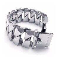 Stainless steel bracelet Cool Designed Jewelry Stainless Steel Silvery Delicate Punk Bike Chain Shape Hot Sale Bracelet
