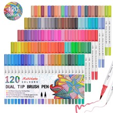 Touchfive 60/72/100/120 Colors Dual Brush Tip Markers Watercolor Pen Art Supplies Washable Pen For drawing Painting Skech Pen