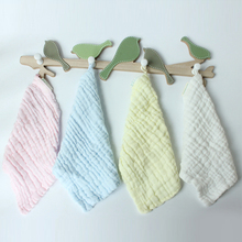4pcs 6 Layers Comfotable Cotton Infant Wash Face Towel Newborn Bibs&Burp Cloths  Multi-purpose Soft Gauze Square 28*28cm