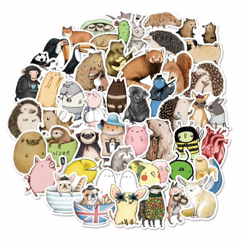73 Pcs/pack Kawaii Animal Party Collection Lovely Decorative Stickers Adhesive Stickers DIY Decoration Diary Stationery Stickers