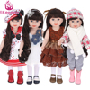 UCanaan Doll 45 Cm 18 Inch American Girl Dolls Handmade Soft Plastic Reborn Baby Toys Girl
