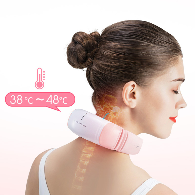Cervical Massager Pink Neck Massager Massager For Neck Waist Shoulder Home Travel Multifunction Vibrating Massager  Health  CareCervical Massager Pink Neck Massager Massager For Neck Waist Shoulder Home Travel Multifunction Vibrating Massager  Health  Care