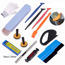 FOSHIO Car Accessories Vinyl Wrap Tool Set Sticker Film Magnet Holder Fixer Window Tint Stick Squeegee Scraper Wrapping