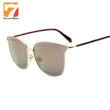Moda Cat Eye Sunglasses Mujeres Diseñador de la Marca de La Vendimia Gafas de Sol Para Damas Recubrimiento Shades Gafas Lentes De Sol Hombre