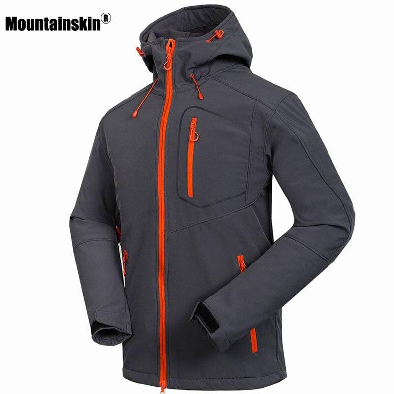 Mountainskin hommes Softshell Veste Coupe-Vent Imperméable À L'eau Randonnée Vestes En Plein Air Épais Manteaux D'hiver Trekking Camping Ski RM033