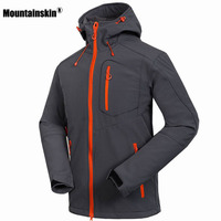 2016 New Softshell Jacket Men Windstopper Waterproof Hiking Jacket Outdoor Jaqueta Thick Winter Spring Coats For