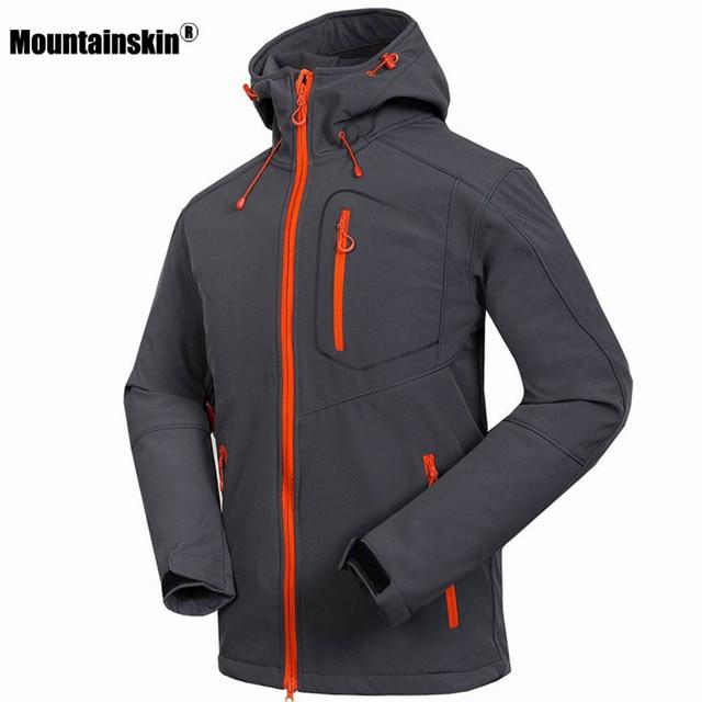 Mountainskin Jaqueta Softshell Windstopper Impermeável Jaquetas Caminhadas  Ao Ar Livre dos homens de Inverno de Espessura 0c24a37b383e6