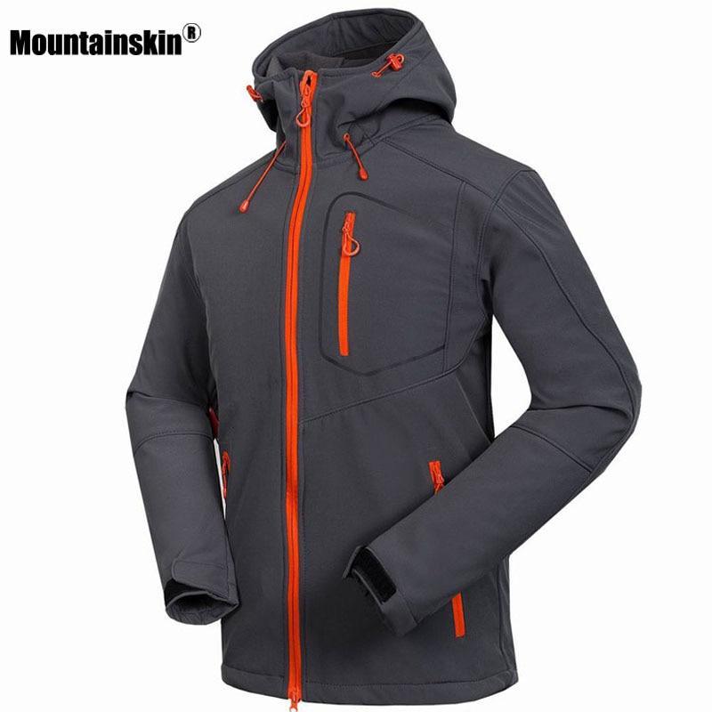 Mountainskin Men's Softshell Jacket Windstopper Waterproof Hiking Jackets Outdoor Thick Winter Coats Trekking Camping Ski RM033
