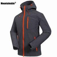 Mountainskin softshell jaqueta windstopper impermeável caminhadas jaquetas ao ar livre grossas casacos de inverno trekking acampamento esqui rm033|waterproof hiking jacket|softshell jacket men|hiking jackets -