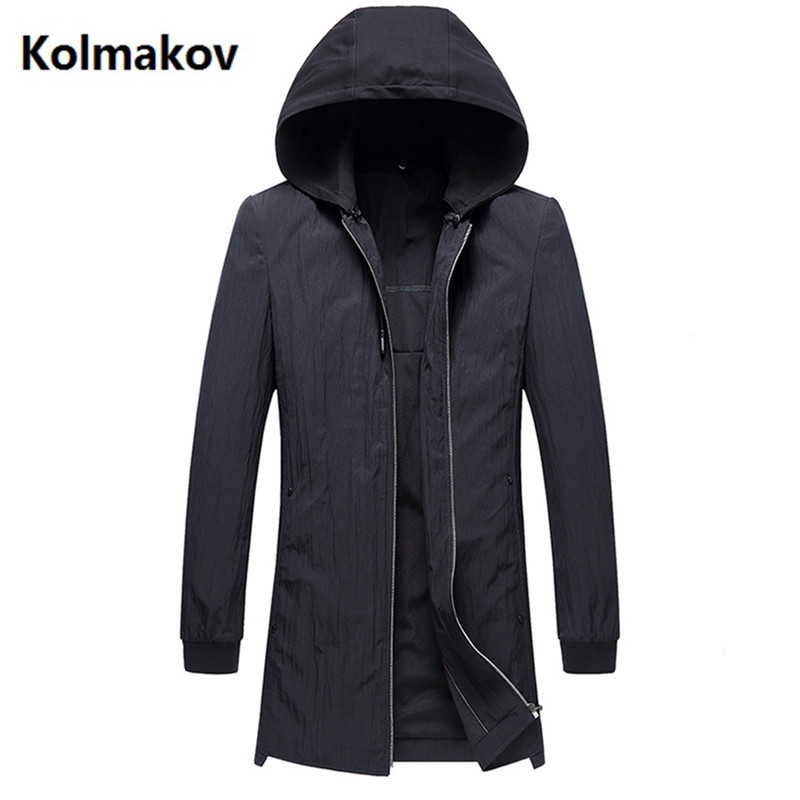 2019 spring Men's   trench   Coats Men Hood Mens Jackets Coats fashion Windbreaker Casual Windproof Man Hooded   Trench   Overcoat