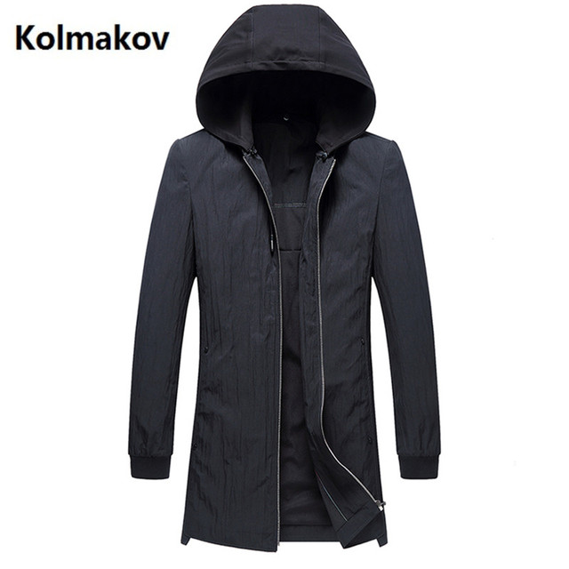 41426f57248 2019 spring Men s trench Coats Men Hood Mens Jackets Coats fashion  Windbreaker Casual Windproof Man Hooded Trench Overcoat