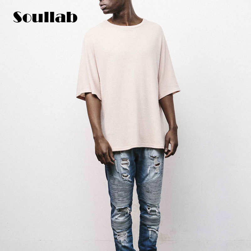 fashion mens over size oversized top tees loose t shirt ...