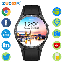 ZUCOOR Quad-Core SmartWatch Android 5.1 Smart Watch WCDMA WiFi GPS Map Intelligent Men Wristwatch With Camera Music Heart Rate
