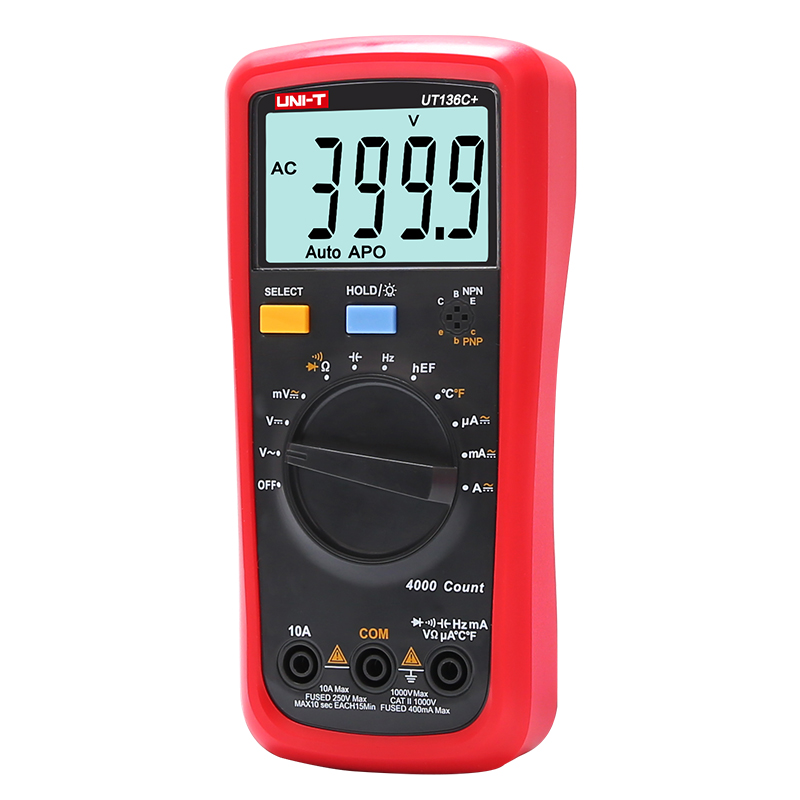 UNI-T UT136C+ Digital Multimeter Auto Power Off Meter AC DC Voltage Current Ohm Diode Cap Hz of Test Diode Multimeter цена