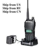 Shipp from RU US CN Black BaoFeng UV 82 Walkie Talkie 5W 10km 136 174MHz 400