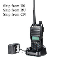 Shipp from RU US CN Black BaoFeng UV 82 Walkie Talkie 5W 10km 136 174MHz 400