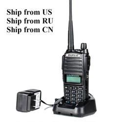 Доставка из RU/US/CN! Черный BaoFeng UV-82 портативной рации 5 Вт 10 км 136-174 мГц и 400-520 мГц двухстороннее радио Baofeng uv82 Любительское радио