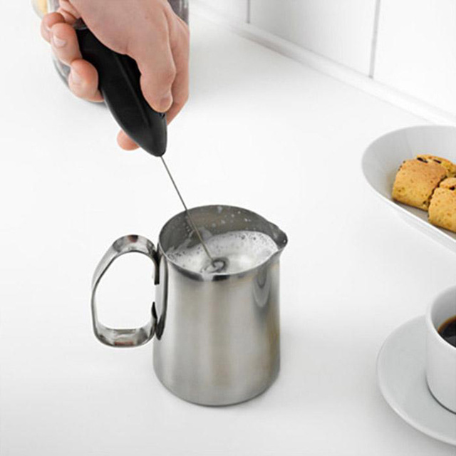 1pc Milk Drink Coffee Whisk Mixer Electric Egg Beater Frother Foamer Mini Handle Stirrer Practical Kitchen Cooking Tool Gadget
