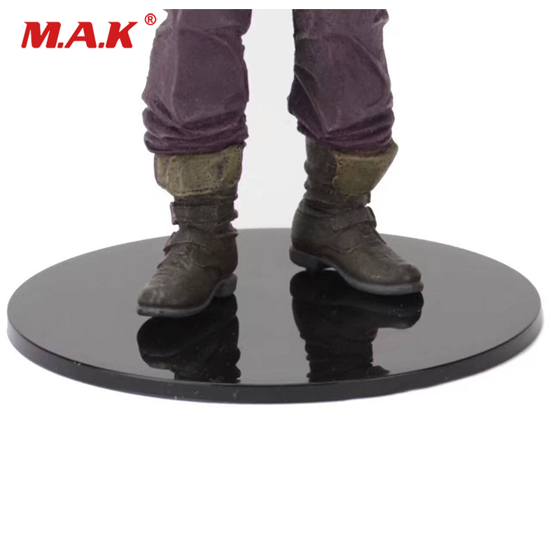Clear Black Colors Display Round Stands F/6-8 Inches Figures 10pcs Pack Lot For figure doll