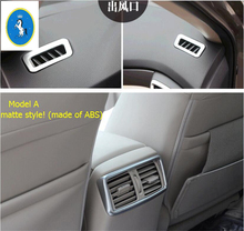 2 Color For Nissan X-Trail X Trail T32 Rogue 2014 2015 2016 Front & Rear Air Condition AC Outlet Vent Decoration Cover Trim