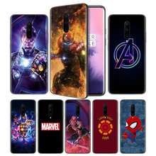 Avengers Endgame Marvel Iron Man Soft Black Silicone Case Cover for OnePlus 6 6T 7 Pro 5G Ultra-thin TPU Phone Back Protective