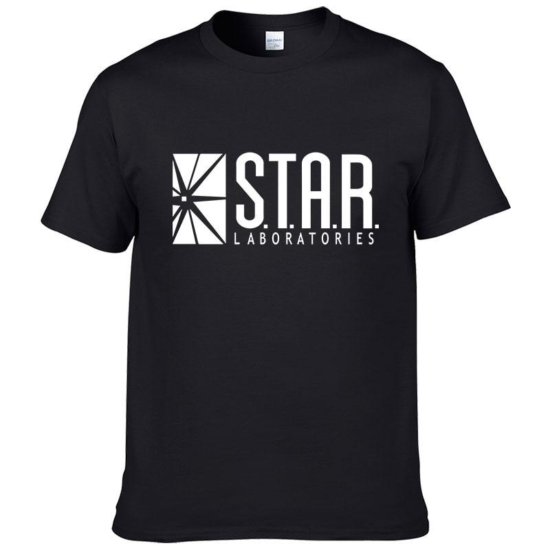 2019 Fashion STAR Laboratories Streetwear Cotton T-Shirt Short Sleeve Men T Shirts Brand Clothing Hip Hop Tops Tees #283