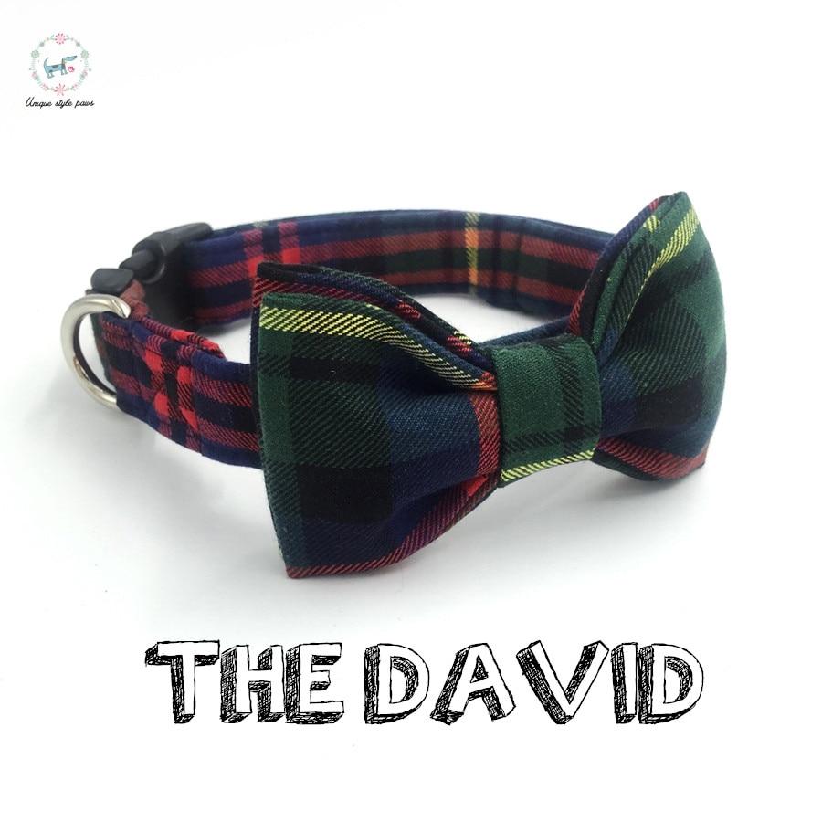 rešetka angleške pasje ovratnice lok kravato osebni po meri hišnih lutk oblikovalec izdelek pas in mačka ogrlica XS-XL