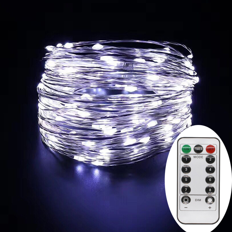 led string christmas lights 10m 100leds led copper wire holiday light with remote controllers for party wedding decoration in led string from lights