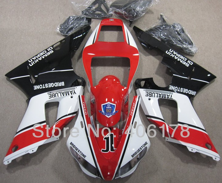 Hot Sales,Yzf1000 R1 00 01 fairing kit For Yamaha Yzf R1 2000 2001 Sport Motorcycle Bridgestone Fairings (Injection molding) hot sales for yamaha yzf r1 2007 2008 accessories yzf r1 07 08 yzf1000 black aftermarket sportbike fairing injection molding