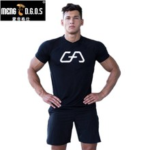 Men summer gyms t shirt Fitness Bodybuilding Cotton Shirts Crossfit workout Short Sleeve male sporting Brand Tees Tops clothes