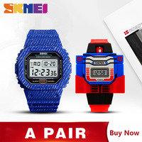 SKMEI Watch Men Kids Cartoon Watches Fashion Casual Wrist Watches For Father Son Clock montre enfant homme 1471 1095 Set