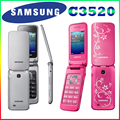 C3520 Оригинальный Разблокирована SAMSUNG C3520 Мобильный Телефон Английский Клавиатура и Один год гарантии