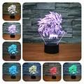 Dragon Ball Wu Kong Usb Led 3d Luz Da Noite Da Lâmpada de Mesa lâmpada da Noite da lâmpada Luz Conduzida Da Noite Luz Da Noite Para As Crianças Levaram lâmpada