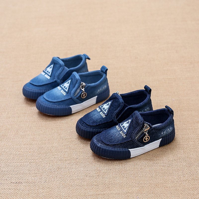 2017 children canvas shoes boys girls casual sports shoes toddle Sneakers Washed denim fabric flat lazy shoes flats kids loafers new arrival spring autumn children shoes boys girls single shoes girls boys sneakers high quality casual canvas cs 119