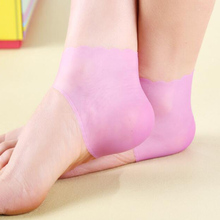 1 Pair of Foot Care Medical Care Cracks Silicone Heel Cushion Cover Anti-slip Operating Feet Heel Protection Foot Care Z52601