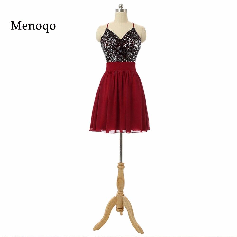 425b3fde78 Nowe Mody Śliczne Halter Neck Cekiny Szyfonu Linii Prom Dresses 2018  Rzeczywistego Obrazu Krótkie sukienki Homecoming Graduation suknie